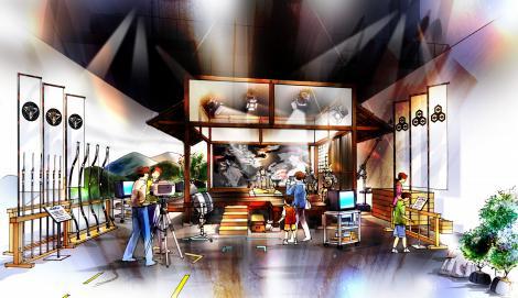 新潟県上越市の『越後上越天地人博』の春日山城スタジオセット体験エリア