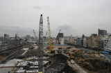 「東京スカイツリー」工事現場、2008年12月下旬の様子