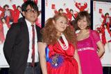 ジャパンプレミアに出席した、(左から)宮川大輔、渡辺直美、安倍なつみ