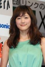 綾瀬はるか=パナソニックのテレビ『新・ビエラ』の発表会