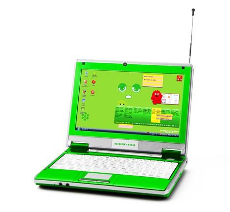 バンダイネットワークスが販売する『ガチャピン&ムックのモバイルノートパソコン』(C)2009 フジテレビKIDS