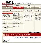 3月3日にスタートする新サービス『ORICON BiZ online』の画面(サービス開始前のイメージ画面)