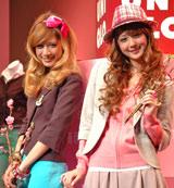 ユニクロ「ガールズコレクション ジャケット」の発表会に登場したマリエと佐々木希