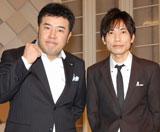 NHKお笑い新番組『笑・神・降・臨』の取材会に出席したインパルス(左から)堤下敦、板倉俊之