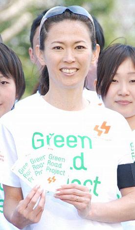 『Green Road Project』中間結果発表イベントに出席した有森裕子