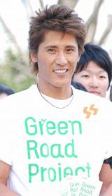『Green Road Project』中間結果発表イベントに出席した新庄剛志