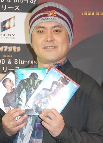 3タイトルDVD&BD発売記念イベントに出席したくりぃむしちゅー・有田哲平