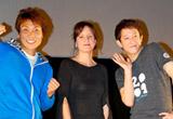 スペイン映画『A Fiance For Yasmina』の舞台挨拶に出席したイレネ・カルドナ監督(中央)とサバンナ(左:八木真澄、右:高橋茂雄)