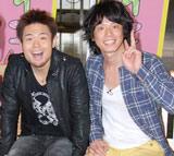 NHK新科学エンタメ番組『すイエんサー』の取材会に出席した品川庄司(左から)品川祐、庄司智春
