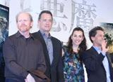 ロン・ハワード監督、主演のトム・ハンクス、ヒロインのアイェッレット・ゾラー、プロデューサーのブライアン・グレイザー (C)ORICON DD inc.