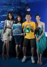 左から森泉、福田沙紀、勝俣州和、佐藤藍子【映画『崖の上のポニョ』DVD発売記念イベントにて】
