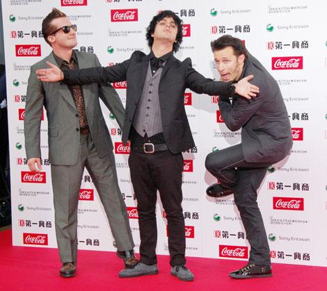 『MTV VIDEO MUSIC AWARDS JAPAN 2009』に出席したGREEN DAY(C)ORICON DD inc.