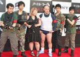 映画『ターミネーター4』のジャパンプレミアイベントに出席したよしもとT4 軍団(左からザ・パンチ、渡辺直美、くまだまさし、しずる) (C)ORICON DD inc.