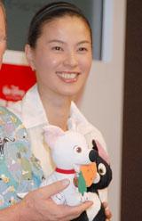 映画『ボルト』日米キャスト合同記者会見に出席した江角マキコ(C)ORICON DD inc.