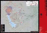 作中のシーンを地図に反映させた『ヱヴァンゲリヲン箱根補完マップ』表面