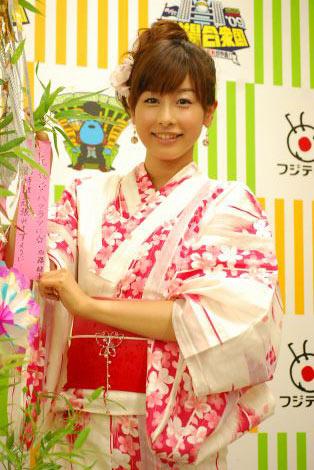 浴衣姿の加藤綾子