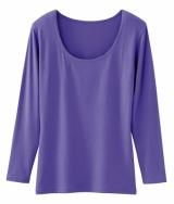 「UネックTシャツ(長袖)」(全12色・同1500円)