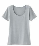 「UネックTシャツ(半袖)」(全10色・同1000円)