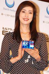 かぜ薬『ルル』テレビCM記者発表会に出席した、天海祐希 (C)ORICON DD inc.