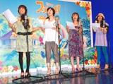 DVD『スティッチ!』テレビCMナレーション収録を行った、SPEEDの(左から)上原多香子、島袋寛子、今井絵理子、新垣仁絵 (C)ORICON DD inc.