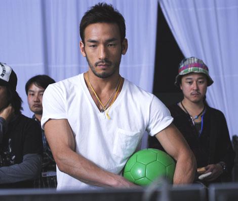 中田英寿氏が出演している新CMメイキングカット