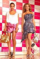 『ディズニーコレクション Debut』発表会後の来日記念イベントに出席した、ビヨンセ、ソランジュ姉妹 (C)ORICON DD inc.