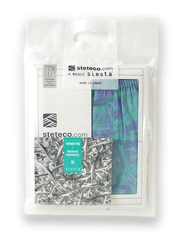 """ステテコとCDのセット「steteco.com+music""""siesta""""line(purple×emeraldgreen)」9450円(税込)"""