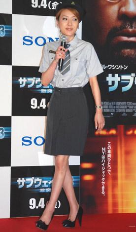 映画『サブウェイ123 激突』のイベントに出席した、西川史子 (C)ORICON DD inc.
