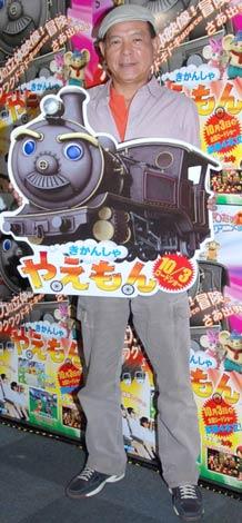 3Dアニメ映画『きかんしゃ やえもん』のアフレコを行った地井武男 (C)ORICON DD inc.