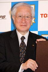 2009年プロ野球『新人選手選択会議(ドラフト会議)』の記者会見に出席した加藤良三会長 (C)ORICON DD inc.