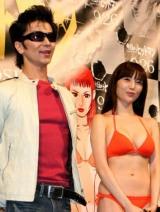 映画『今日からヒットマン』完成披露試写会 舞台あいさつに登壇した、(左から)武田真治、森下悠里 (C)ORICON DD inc.