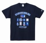 イチロー選手9年連続200本安打新記録達成記念品 TシャツA(ネイビー)