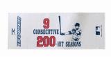 イチロー選手9年連続200本安打新記録達成記念品 スポーツタオル