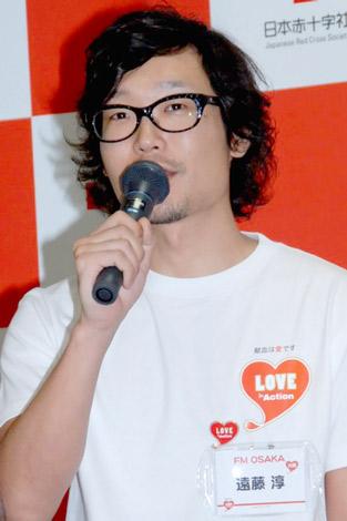 献血プロジェクト『LOVE in Action PROJECT』の記者会見に出席した、FM大阪のDJ・遠藤淳 (C)ORICON DD inc.
