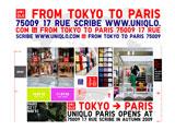 オープン3ヶ月前から展開していたスペシャルウェブサイト『UNIQLO FROM TOKYO TO PARIS』