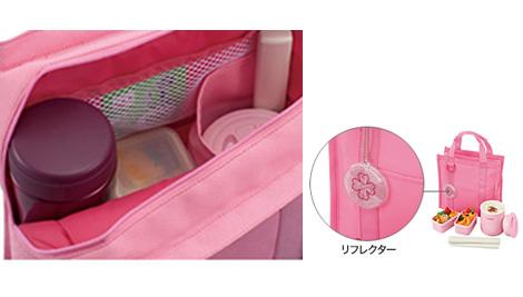 専用トートバッグには弁当箱のほか、水筒やペットボトルも収納可能