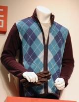 プリントフリースジャケット(長袖・アーガイル) 1990円
