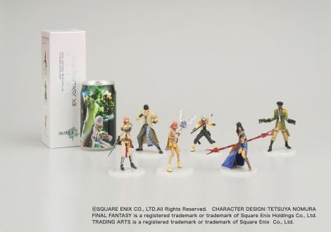 キャラクター缶とフィギュア1体が同梱された『FINAL FANTASY XIII ELIXIR with TRADING ARTS Mini』