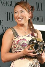 第5回『VOGUE NIPPON Women of the Year 2009 & Decade 2009』に出席した、杉山愛 (C)ORICON DD inc.