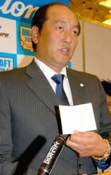 花巻東・菊池雄星投手との交渉権を獲得した、埼玉西武・渡辺久信監督 (C)ORICON DD inc.