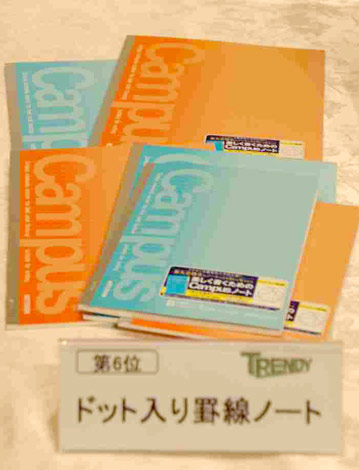 「2009ヒット商品ベスト30」6位の「ドット入り罫線ノート」 (C)ORICON DD inc.