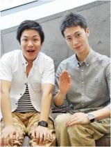 2位のはんにゃ(左から)川島章良、金田哲