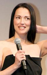 映画『イングロリアス・バスターズ』のジャパンプレミア上映会に出席したジュリー・ドレフュス