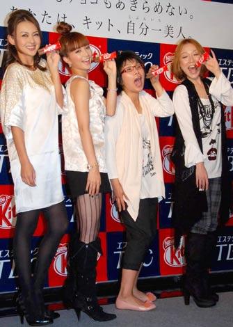 キットカット×TBC『自分一美人プロジェクト』発表会に出席した桜井裕美、安田美沙子、クワバタオハラ (C)ORICON DD inc.