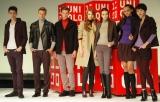 ユニクロ「2009年ヒートテック説明会」では、同商品を着用したモデルたちによるファッションショーも開催された (C)ORICON DD inc.