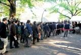 酒井法子被告の判決公判の傍聴券を求め、東京地裁近くの日比谷公園には長蛇の列が (C)ORICON DD inc.
