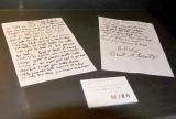 プリンセス天功が『マイケル・ジャクソン遺品展』のプロデュースを担当、「BEAT-IT」の手書きの歌詞も展示 (C)ORICON DD inc.