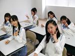 スカパー!で冠番組『SKE48学園』がスタートするなど、名古屋から着実に全国にファンを広げているSKE48。手前が写真手前が松井珠理奈