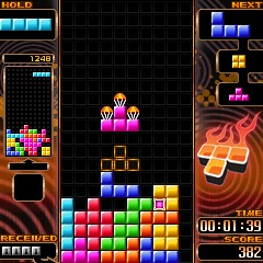 最もプレイされた携帯ゲーム「テトリス」 Tetris (R) & (C) 1985 - 2009 Tetris Holding, LLC. Licensed to The Tetris Company. Game Design by Alexey Pajitnov.