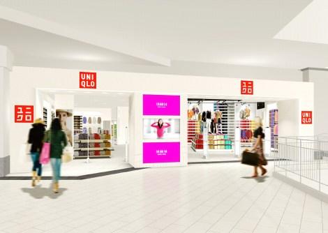 ユニクロが2010年春にオープンするロシア1号店「ユニクロ アトリウム店」のイメージ画